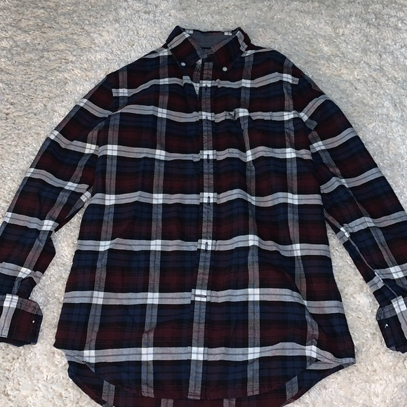 American Eagle Plaid button up